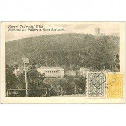 carte postale ancienne OSTERREICH AUTRICHE. Kurort bei Wien Helenental mit Weilburg Ruine Rauheneck 1924
