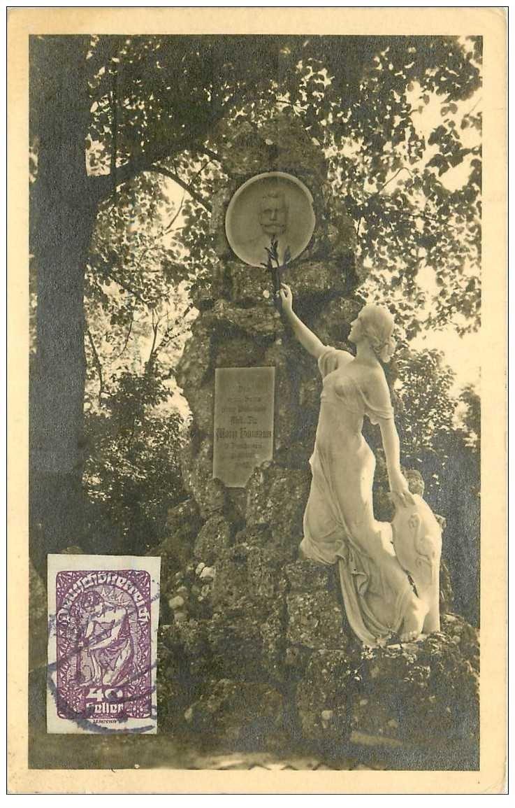carte postale ancienne OSTERREICH AUTRICHE. Leoben Dr Homann Denkmal