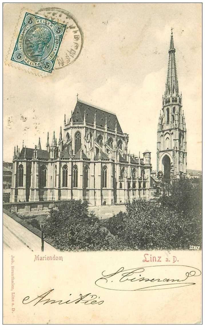 carte postale ancienne OSTERREICH AUTRICHE. Mariendom Linz 1904