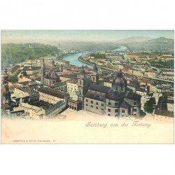 carte postale ancienne OSTERREICH AUTRICHE. Salzburg von der Festung vers 1900