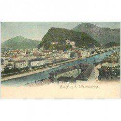 carte postale ancienne OSTERREICH AUTRICHE. Salzburg von Mönchsberg vers 1900