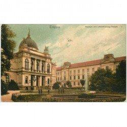 carte postale ancienne OSTERREICH AUTRICHE. Troppau Museum mit Lehrerbildungs Anstalt 1906