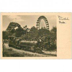 carte postale ancienne WIEN . Prater le Petit Train