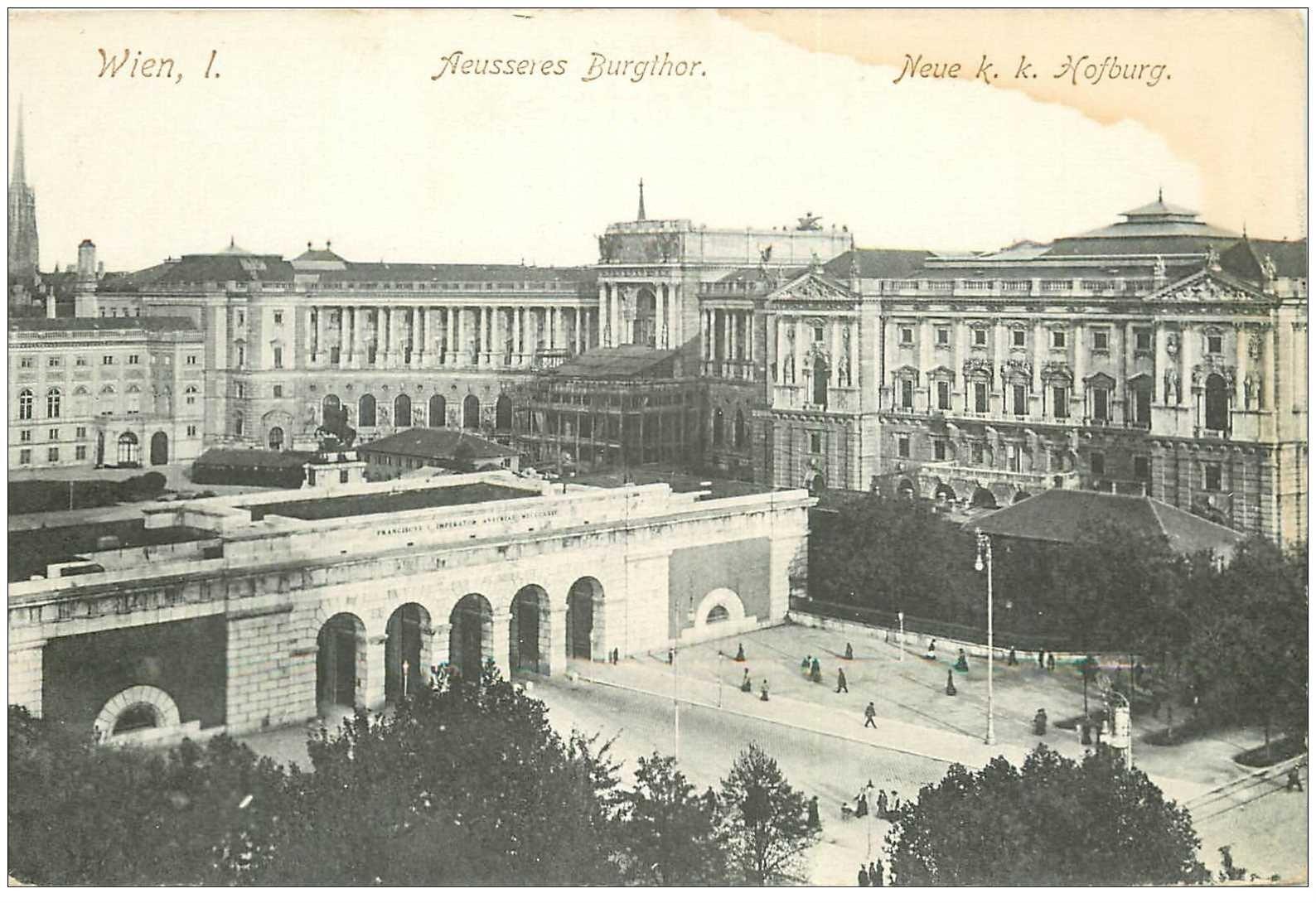 carte postale ancienne WIEN VIENNE. Aeusseres Burgthor