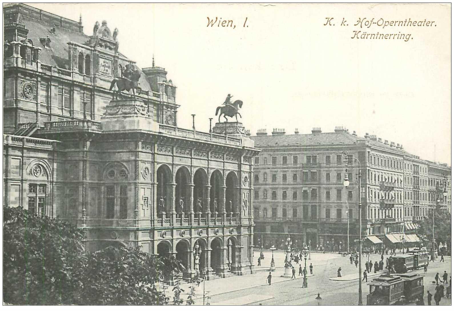 carte postale ancienne WIEN VIENNE. Hof Operntheater Kärntnerring