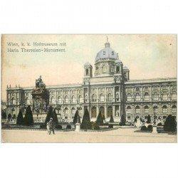 carte postale ancienne WIEN VIENNE. Hofmuseum mit Maria Theresien Monument