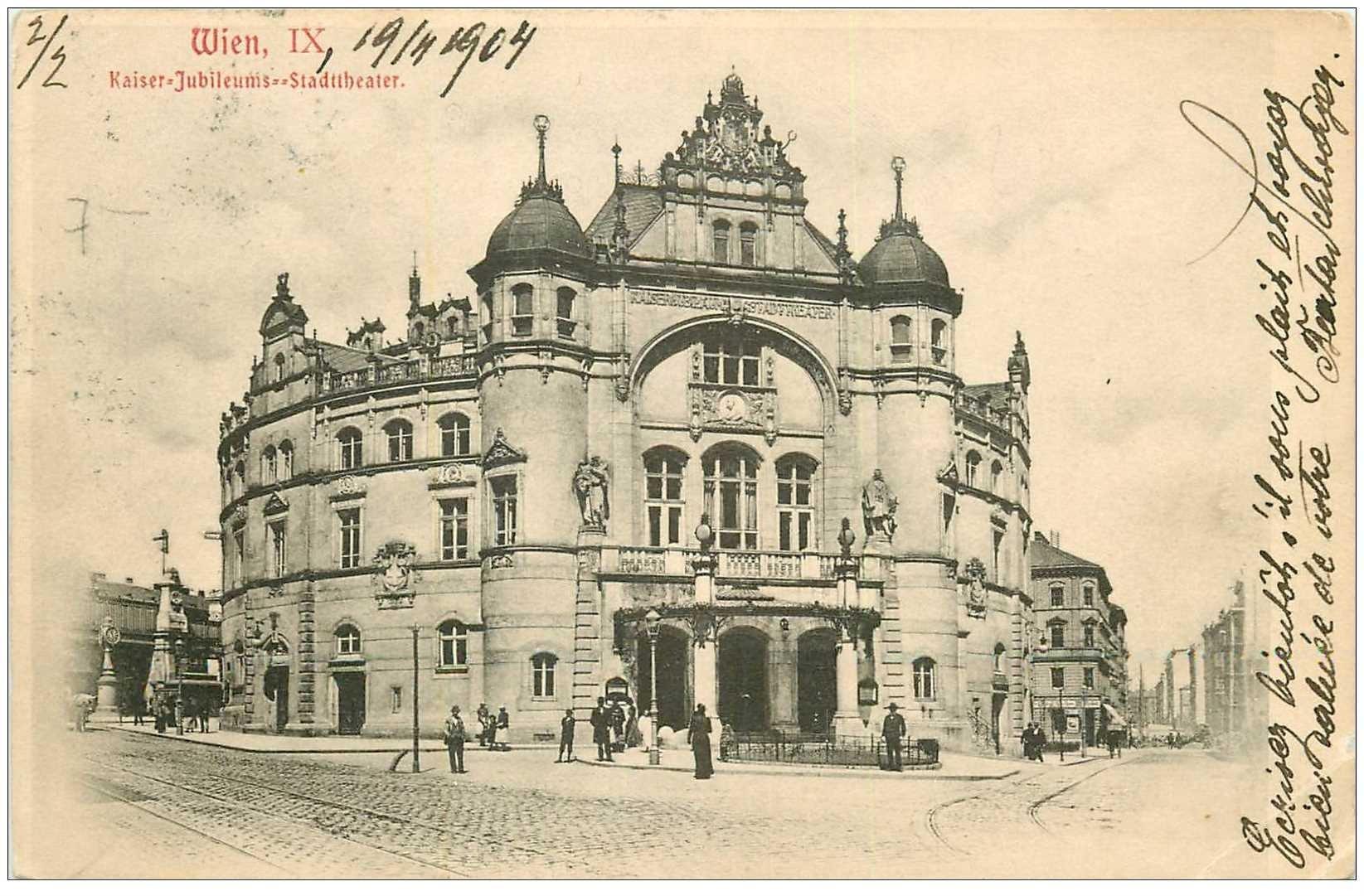 carte postale ancienne WIEN VIENNE. Kaiser Jubileums Stadtheater 1904