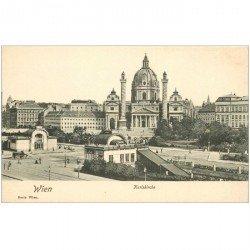 carte postale ancienne WIEN VIENNE. Karlskirche