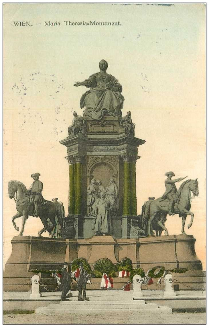 carte postale ancienne WIEN VIENNE. Maria Theresia-Monument