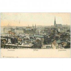 carte postale ancienne WIEN VIENNE. Panorama Stefansdom 1906