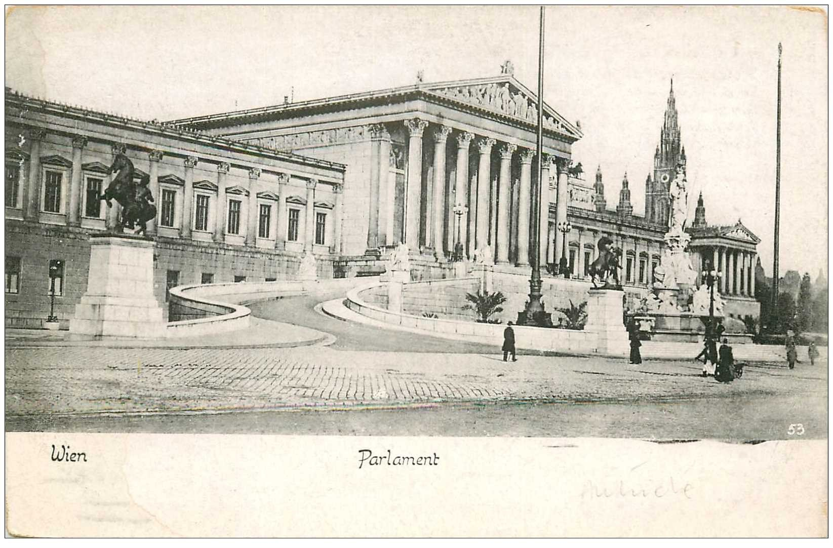 carte postale ancienne WIEN VIENNE. Parlament