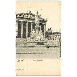 carte postale ancienne WIEN VIENNE. Parlamentsbrunnen vers 1900