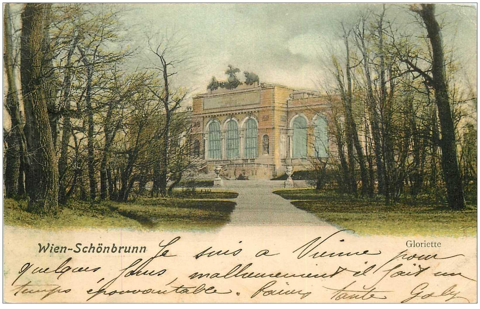 carte postale ancienne WIEN VIENNE. Schönbrunn 1902