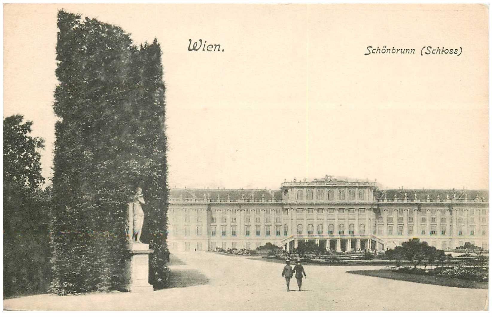 carte postale ancienne WIEN VIENNE. Schönbrunn Schloss