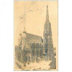 carte postale ancienne WIEN VIENNE. Stefansdom 1909 Kirche