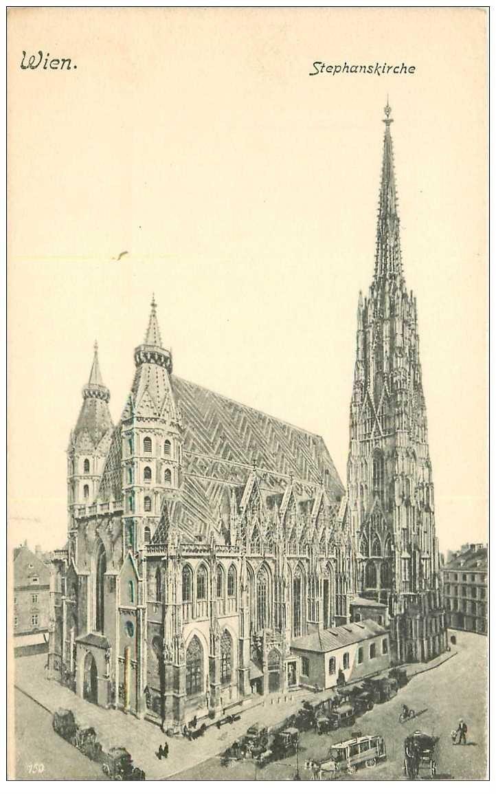carte postale ancienne WIEN VIENNE. Stephanskirche