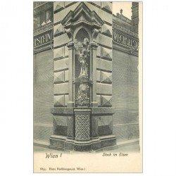 carte postale ancienne WIEN VIENNE. Stock im Eisen