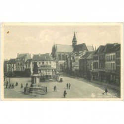 carte postale ancienne ALOST. Grand Place