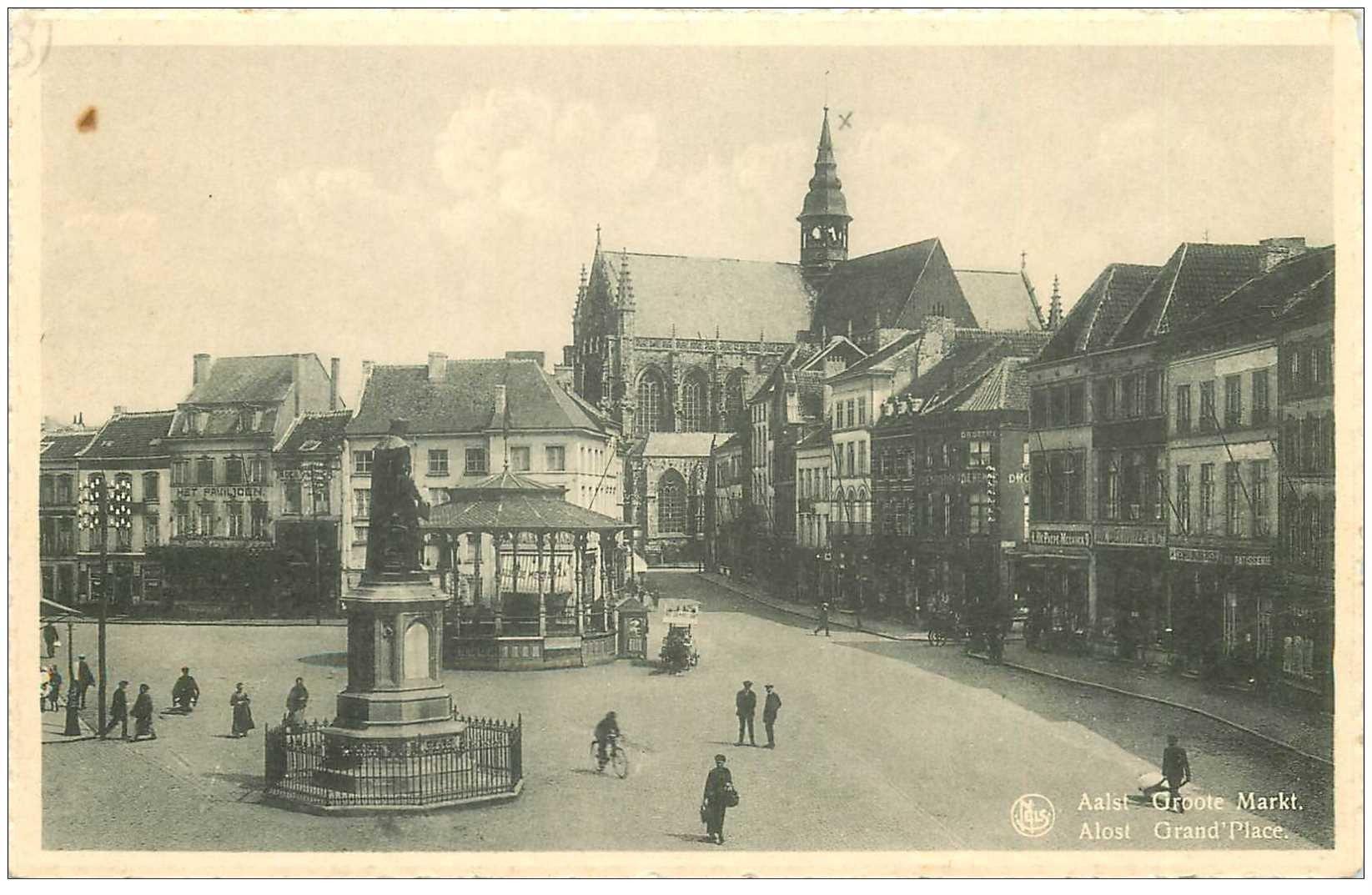 carte postale ancienne ALOST. Grand Place