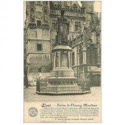 carte postale ancienne ALOST. Statue de Thierry Martens