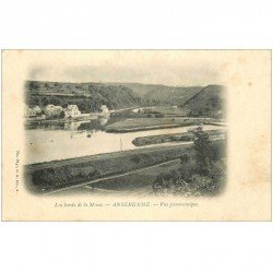 carte postale ancienne ANSEREMME. Bords de la Meuse vers 1900