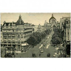 carte postale ancienne ANVERS. Avenue de Keyser. Bords dentelés