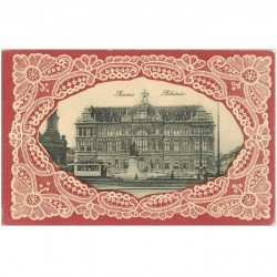 carte postale ancienne ANVERS. Carte gaufrée en relief. Athénée
