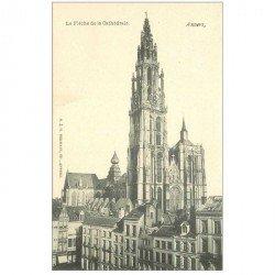 carte postale ancienne ANVERS. Flèche de la Cathédrale