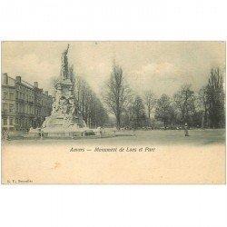 carte postale ancienne ANVERS. Monument de Loos et Parc