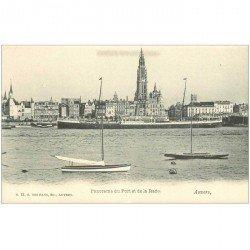 carte postale ancienne ANVERS. Port et Rade