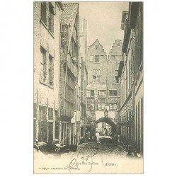 carte postale ancienne ANVERS. Rue des Crabes 1902