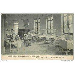 carte postale ancienne Belgique. ANTWERPEN STUYVENBERGGASTHUIS. Vrouwenzaal. Carte rare 1913 Anvers