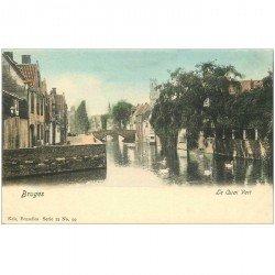 carte postale ancienne Belgique. BRUGES le Quai Vert