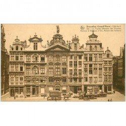 carte postale ancienne Belgique. BRUXELLES Grand Place 1927 attelage Messagerie Van Gend
