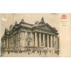 carte postale ancienne Belgique. BRUXELLES la Bourse vers 1900