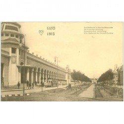 carte postale ancienne Belgique. GAND les Halles de la Section Française 1913