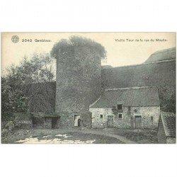 carte postale ancienne Belgique. GEMBLOUX Vieille Tour rue du Moulin