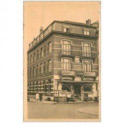 carte postale ancienne Belgique. HEYST SUR MER. Hôtel Restaurant Etienne Place de la Gare