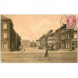 carte postale ancienne Belgique. LA LOUVIERE Boulevard Mairaux 1911 expédiée au Tonkin