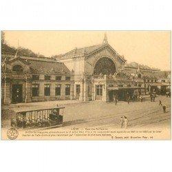 carte postale ancienne Belgique. LIEGE. Gare des Guillemins