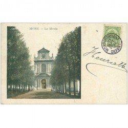 carte postale ancienne Belgique. MONS le Musée