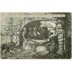carte postale ancienne BELGIQUE. Ramscapelle guerre 1914. Eglise bombardée