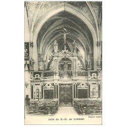 carte postale ancienne 02 NOTRE-DAME-DE-LIESSE. Eglise. Le Jubé 1946