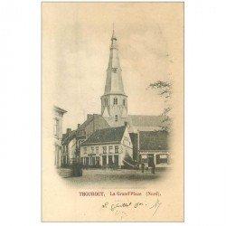 carte postale ancienne Belgique. THOUROUT la Grand Place 1902