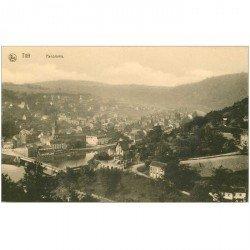 carte postale ancienne Belgique. TILFF. Panorama et Pont