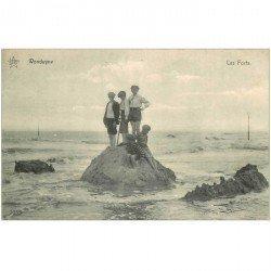 carte postale ancienne Belgique. WENDUYNE les Forts 1913