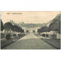 carte postale ancienne BELOEIL. Entrée du Chteau 1914