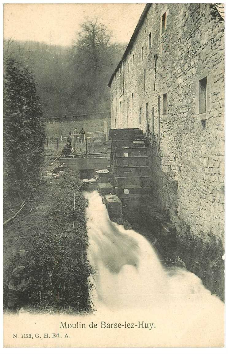 carte postale ancienne BELOEIL. Moulin de Barse Lez Huy 1907