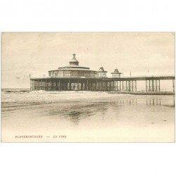 carte postale ancienne BLANKENBERGHE. Le Pier 1907