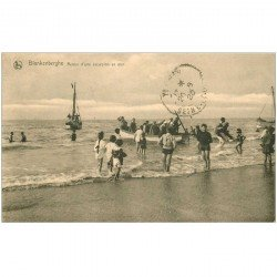 carte postale ancienne BLANKENBERGHE. Retour d'une excursion en Mer 1923